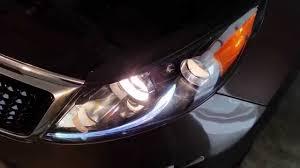 2014 kia sportage suv testing headlights after changing bulbs