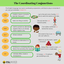 Types Of Conjunctions 13 The Coordinating Conjunctions Englisch