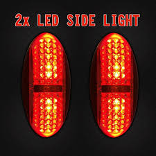 2X 12V 24V Side Marker Red Clearance Lights Indicators 4 LED Trailer ... Truck Led Lights 2 Inch Round Trailer Marker Install How To Youtube 9 33v 8led Amber Side Marker Lightclearance Lamp Ailertruck 2008 F150 Leds Strobe All Around Led And W Clear Lens 25 Side Lets See Them Chicken Dodge Cummins Diesel Forum Ram Clearance Inspiration New 2018 1500 Express Dorman Cab Roof Parking 5 Piece Kit For 212 2410x Round Light Indicator Lamp Car Bus Trucklite 8946a Oval Signalstat Replacement