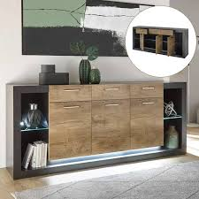 led beleuchtung industrial style wohnwand komplett set mit