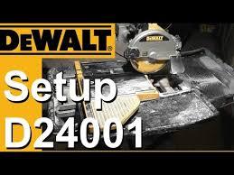 Dewalt Tile Cutter D24000 by Dewalt Wet Saw Setup D24000 D24001 Youtube