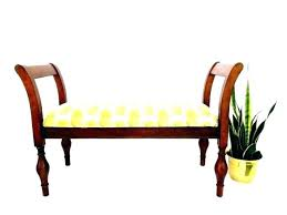 Small Upholstered Bench Bench In Gold Narrow Upholstered Storage
