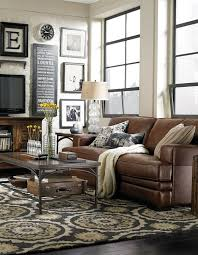 new 28 brown leather sofa in living room rustic dim brown