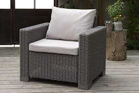 Amazon Uk Patio Chair Cushions by Stone Replacement 2 Piece Seat Cushions Set For Keter Allibert