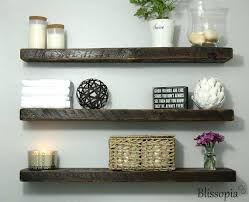 Reclaimed Wood Shelves Floating Brilliant Decoration Wall Best Ideas On