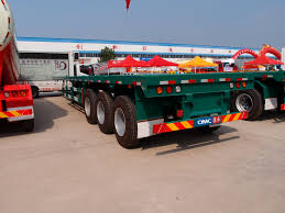 20ft 40ft Flatbed Container Trailer Truck For Transporting - China ...