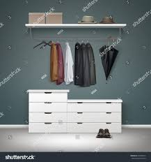 Decorative Metal Garment Rack by Vector Metal Clothes Rack White Drawers Stock Vector 626980574