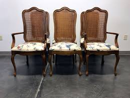 SOLD OUT - THOMASVILLE French Country Provincial Cane Dining Chairs - Set  Of 6 Refinished Painted Vintage 1960s Thomasville Ding Table Antique Set Of 6 Chairs French Country Kitchen Oak Of Six C Home Styles Countryside Rubbed White Chair The Awesome And Also Interesting Antique French Provincial Fniture Attractive For Eight Cane Back Ding Set Joeabrahamco Breathtaking