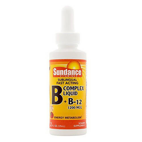 Sundance Vitamins B + B12 Complex 1200 mcg Liquid Natural Berry Flavor - 2 oz