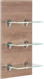 emotion panel santini badregal eiche hell seidenglanz mit 3 glasablagen