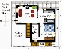 30x30 2 Bedroom Floor Plans by My Little Indian Villa 13 R6 2 Houses In 30x30 West Facing