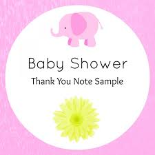 Baby Shower Thank You Confetti Bliss