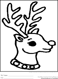 Simple Rudolph Coloring Pages Christmas On