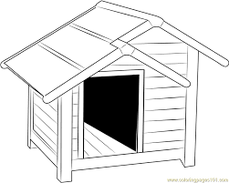 Big Dog House Coloring Page