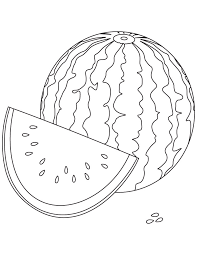 Watery Watermelon Coloring Pages