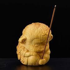 7cm kleiner affe könig buchsbaum skulptur holz feng shui wohnzimmer glück weihrauch stecker sun wukong zen buddha statue wohnkultur