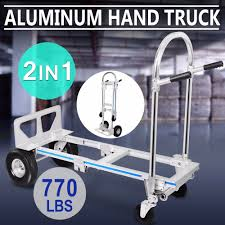 BestEquip Hand Truck 2 In 1 Aluminum Hand Truck Dolly 770lbs ... Hand Trucks R Us Harper Alinum Appliance Truck 800 Lbs Shop Dollies At Lowescom 15 Discount 3 In 1 Foldable Dolly Cart 1000 Lb In All Lb Utility Folding Magliner 1000lb Capacity Silver Convertible Milwaukee 4in1 Truck60137 The Home Depot Enchanting 2018 1000lbs Lift Luggage Carrier Portable 500 Modular With Double