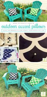 How To Easily Create Outdoor Accent Pillows Stencil Stories