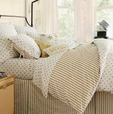 A Touch of Southern Grace Gold & White Bedding