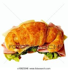 Close Up Of Croissant Sandwich
