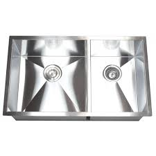 White Kitchen Sink 33x22 by 33 Inch Top Mount Drop In Stainless Steel 60 40 Double Bowl