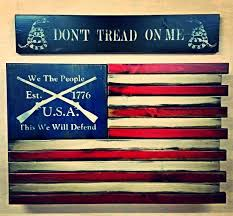 THIS WE WILL DEFEND AMERICAN FLAG HOME DEFENSE CONCEALMENT WALL ART
