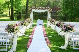 Small Backyard Wedding Ceremony Ideas Outdoor Photo Canvas