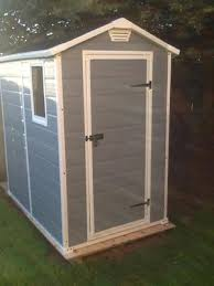 Keter Manor 4x6 Storage Shed by Store It Out Storeitout Midi Horizontal Resin Shed211166 The Home