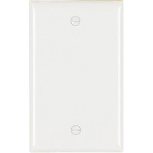Pass and Seymour 1 Gang Blank Urea Wall Plate - White