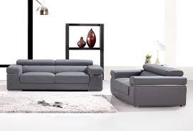 canap cuir gris deco in ensemble canape 3 2 places en cuir gris can 3