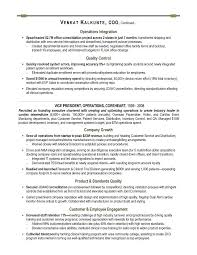 COO Sample Resume