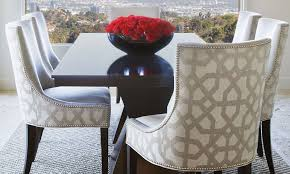 Upholstered Nailhead Dining Chairs Amazing With Trim Idea 0