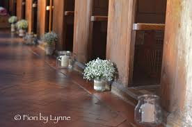 Bridesmaids Bouquets Of Massed Gypsophila With The Stems Finished Twine For Rustic Look