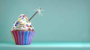 Delicious Cupcake With A Glittering Sparkler And Smarties A Whipped Cream Copy Space Available 4k Video Stock Footage Video