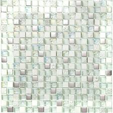 mosaic tile silver metal coating glass tile