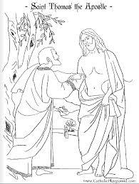 Saint Thomas The Apostle Coloring Page