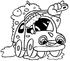 Giant Brush Car Wash Coloring Pages