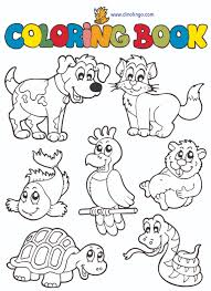 Animals Coloring Page Book