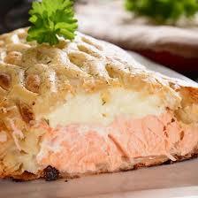 recette feuilleté au fromage et saumon