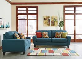 buy sagen teal living room set by signature design from www