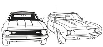 Free Printable Muscle Car Coloring Picture For Boys