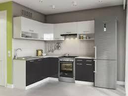 details zu küche l form 207x167cm hochglanz küchenzeile küchenblock komplett küchen