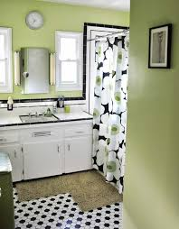 wall color with black and white tile