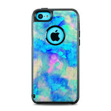 OtterBox muter iPhone 5c Case Skin Electrify Ice Blue by Amy