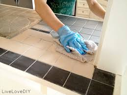 Can You Lay Ceramic Tile Over Linoleum by Livelovediy How To Paint Tile Countertops