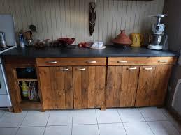 meuble cuisine palette plan de travail cuisine a faire soi meme mervéilléux meuble
