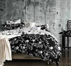 Black and white bedding sets with curtains
