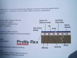 Tile Adhesive Mat Vs Thinset by Provaflex Vs Ditra