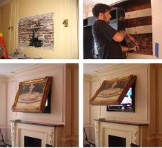 Hide your Flat Screen TV When the TVCoverUp is closed only your framed art