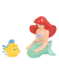 Disney Little Mermaid Bathroom Accessories by Disney The Little Mermaid Ariel U0026 Flounder Salt U0026 Pepper Shaker